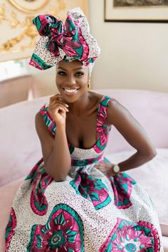 Beautiful African headwraps from Grass-fields to complement our range of African dresses, skirts and more. African Print Dresses, African Wear, African Attire, African Fashion Dresses, African Women, African Dress, African Style, African Prints, Ankara Fashion