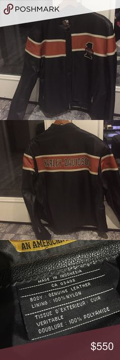 Harley Davidson 100% Leather Jacket Brand new Harley Davidson Leather Jacket, size XL, never worn HARLEY DAVIDSON Jackets & Coats Bomber & Varsity