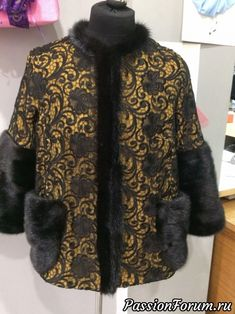 Fur Trim, Diy Clothes, Dress Patterns, Womens Fashion, Fashion Trends, Fur Coat, Creations, Lace, Sweaters