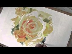 How to paint Roses in Watercolour by Trevor Waugh.