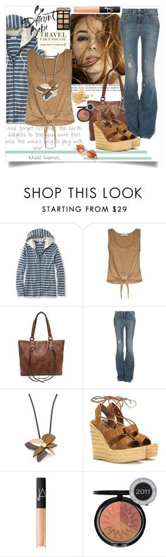 """Sandy Denim"" by wuteringheights ❤ liked on Polyvore featuring L.L.Bean, Alice + Olivia, Lulu*s, dVb Victoria Beckham, Marni, Yves Saint Laurent, Bobbi Brown Cosmetics, NARS Cosmetics and Iman"