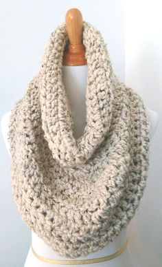 chunky infinity cowl scarf capelet snood crochet by ToastyMornings Hooded Scarf, Cowl Scarf, Chunky Wool, Capelet, Crochet Accessories, Neck Warmer, Warm Colors, Hand Crochet, Wool Blend