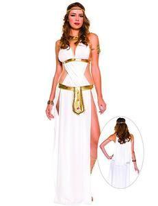 Cleopatra Costume Egyptian Queen Greek Goddess Fancy Dress Ladies Womens 14-16