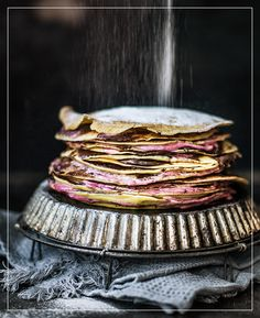 Himbeercrepe-Nutellakuchen Crepes, Homemade Cakes, Pie Recipes, Cravings, Panna Cotta, Sweet Tooth, Sweets, Make It Yourself, Ethnic Recipes