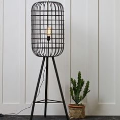 Hurricane Metal Floor Lamp in Black by BePureHome - All For Decoration Wicker Furniture, Luxury Furniture, Floor Standing Lamps, Floor Lamps, Cage, Metal Floor, Art Deco Lighting, Lighting Ideas, Exposed Wood