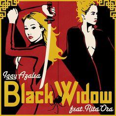 Caratula Frontal de Iggy Azalea - Black Widow (Featuring Rita Ora) (Cd Single)