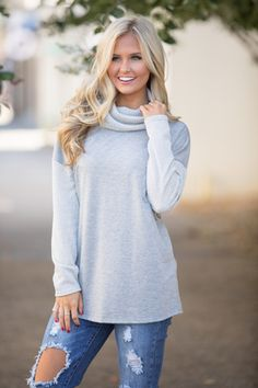 Let's Wind Down Sweater Grey