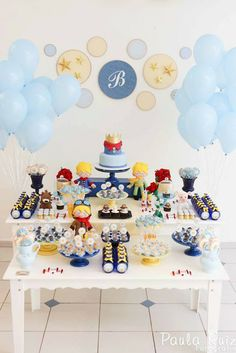 Beautiful decorations for a Little Prince party or baby shower!