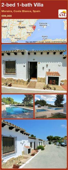2-bed 1-bath Villa in Moraira, Costa Blanca, Spain ►€99,000 #PropertyForSaleInSpain