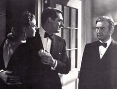 Cary Grant and Ingrid Bergman in Alfred Hitchcock's Notorious 1946