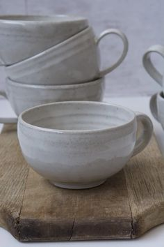 Excellent Photos traditional Pottery Wheel Popular Hand-Thrown Pottery White Cappuccino Cup with a Saucer by Mad About Pottery – Mad About Pottery Slab Pottery, Pottery Mugs, Pottery Bowls, Ceramic Pottery, Pottery Ideas, Ceramic Coffee Cups, Ceramic Mugs, Ceramic Bowls, Ceramic Art