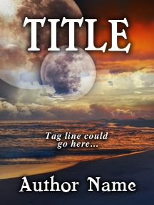Alien Shores Under the Moon - Fantasy Landscape - Customizable Book Cover  SelfPubBookCovers: One-of-a-kind premade book covers where Authors can instantly customize and download their covers, and where Artists can post a cover and name their own price.