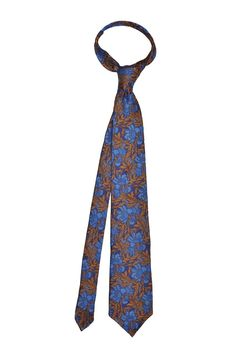 Large Floral silk tie - Orange - Knottery NY
