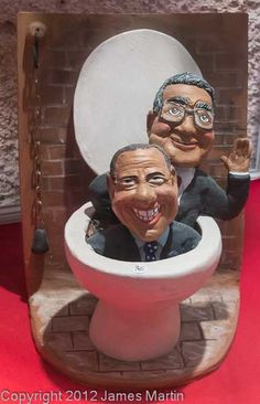 Politicians in a toilet--would you blow this whistle?