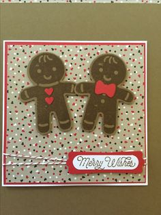 Stampin' Up! Cookie-cutter Christmas stamp set and matching punch. Candy Lane…