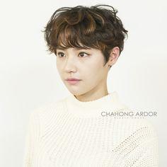 #baby #perm #cut #hairstyle #hair #short #shorthair #bob #pixie #chahongardor