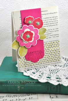 Grateful For You Card by Dawn McVey for Papertrey Ink (May 2013)