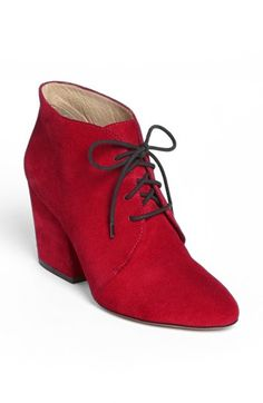 kate spade new york 'roger' bootie  - all of a sudden I am in love with red shoes. These booties with a suede covered heel are fantastic!