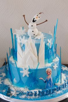 Frozen theme cake by Annica's