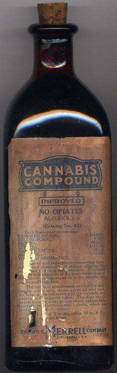 Back in the day. Cannabis cough syrup. Biddy Craft