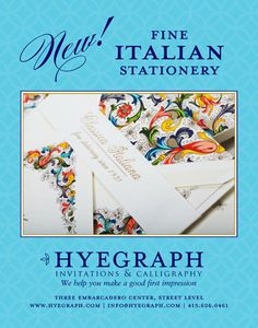 Fine Italian Stationery & Wedding Invitations from ROSSI of Italy at Hyegraph Embarcadero Financial District San Francisco Fine Stationery, Wedding Stationery, Italian Wedding Invitations, Save The Date Cards, Holiday Cards, My Love, Paper, Christian Christmas Cards