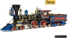 Relive the days of the Wild West, Casey Jones and the Cannonball Express, and build this impressive model locomotive. The incredible Jupiter Train. Special Offer only from www. Central Pacific Railroad, Hobby Kits, Boat Kits, Hobbies For Men, Old Trains, Model Train Layouts, Steam Locomotive, Model Trains, Wild West