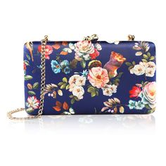 two the nines Women's Flower Print Clutches Evening Bags Handbags Wedding Hardcase Clutch Purse