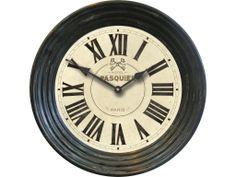 """Best Seller Hotel Pasquier Clock 15""""  designed by J. Kowalski former owner of Timeworks. Metal case frame"""