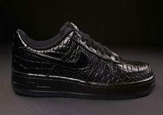 Nike Air Force 1 - patent crock black