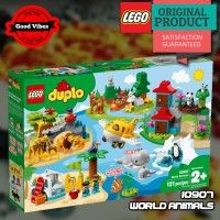LEGO 10907 World Animals DUPLO Mainan Edukasi Anak Hewan Original #thekingbricks #theking #thekingid #kingbricks #gvonline #uhappyihappy #tokolegoterpercaya #tokomainanoriginal #lego10907 Lego Duplo Sets, Lego Ninjago, Animals Of The World