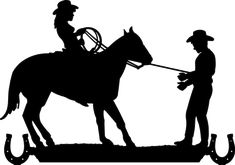 Cowboy Cowgirl Silhouette Clip Art   to its destination. Approx. 4ft.