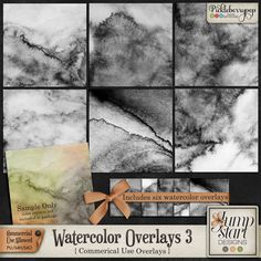 CU ~ Watercolor Overlays 3 By Jumpstart Designs
