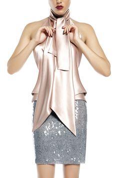 Silk satin top Satin Top, Silk Satin, Sequin Skirt, Fall Winter, Sequins, Skirts, Tops, Fashion, Moda
