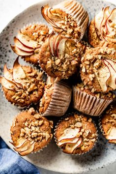Almond Muffins, Apple Muffins, Apple Recipes, Sweet Recipes, Healthy Baking, Healthy Snacks, Amazing Food Photography, Dairy Free, Gluten Free