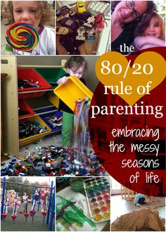 Living guilt free through the messy seasons of life by embracing the 80/20 rule and applying it to parenting. | SimpleKids.net