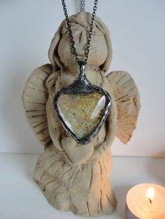 Necklace,+Pendant,+heart+medallion,+amber++from+Jewelry&Hand+Made+by+DaWanda.com