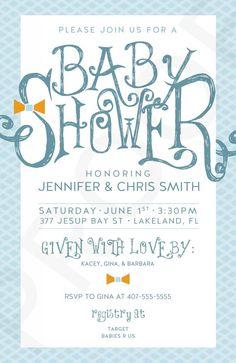 baby shower invites printable