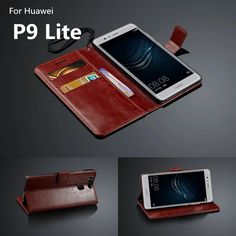 """Fundas Huawei P9 Lite 5.2"""" Flip Cover card holder cover case for Huawei Ascend P9 Lite leather phone case wallet Holster"""