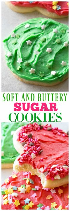 These Sugar Cookies are soft, buttery and great for cut-out shapes! the-girl-who-ate-. Brownie Cookies, Cookie Desserts, Just Desserts, Cookie Recipes, Delicious Desserts, Dessert Recipes, Yummy Food, Cookie Ideas, Yummy Recipes