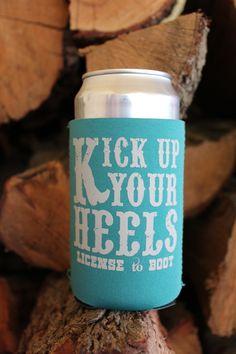 Kick Up Your Heels Koozie Teal