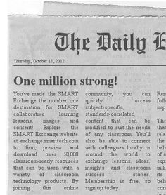 The Newspaper Clipping Image Generator - Create your own fun newspaper on your SMARTboard! Check out the one we made...