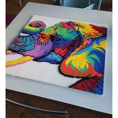 Colorful elephant hama beads by paddys_perler