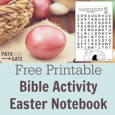 DIY FREE Printable Children's Ministry Bible Activity Notebook for Resurrection Sunday and Easter. Great for Children's Church, Sunday School and Bible Crafts.