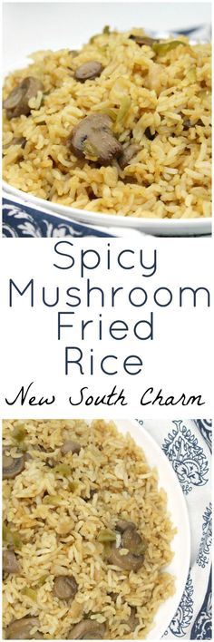 Spicy Mushroom Fried Rice is a great side dish that comes together in just a few minutes and is a great with chicken, pork, beef or fish.