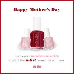 With #MothersDay coming up in a week's time what better than an #essie #mani ? Whether you're an  #alist lady or a little #mademoiselle treat your Mum to something special! #HappyMothersDay