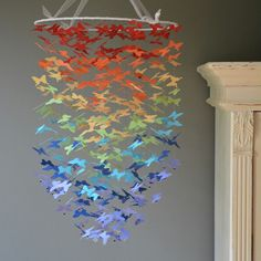 Rainbow butterfly mobile, just stunning!