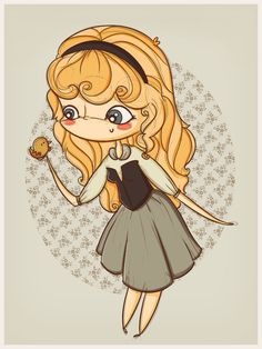 Chibi Disney Princess Aurora, from Sleeping Beauty Disney Fan Art, Disney Pixar, Disney E Dreamworks, Walt Disney, Animation Disney, Disney Magic, Disney Movies, Disney Characters, Chibi Disney