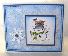 Inkadinkado Snowman Note Card