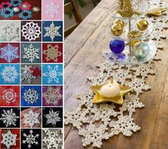 Christmas Snowflakes and Snowflake Table Runner Free Patterns The WHOot