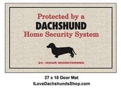 Dachshund Door Mat - Protected by Dachshund Security